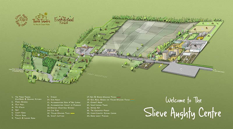 Slieve Aughty Centre map
