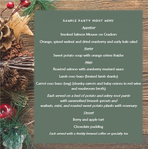 sample Christmas Menu