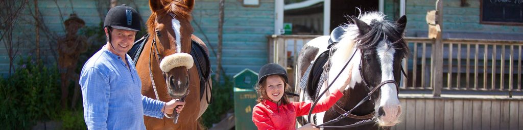 family horse riding activities